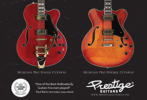 Prestige Guitars Advertising