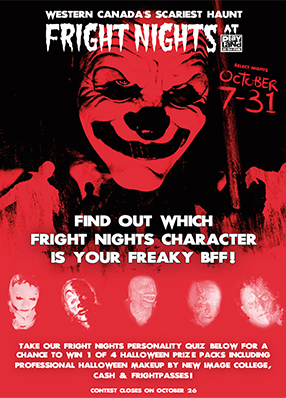 Fright Nights at Playland Social Contest